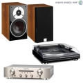 Стерео комплект с винилом Marantz PM5005 Silver Gold+Marantz TT 5005+DALI Zensor 3 Light Walnut