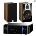 Стерео комплект Marantz Melody M-CR611 Black+DALI Opticon 1 Light Walnut