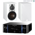 Стерео комплект Marantz Melody M-CR611 Black+DALI Opticon 1 White