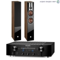 Стерео комплект Dali Opticon 6 Light Walnut+Marantz PM-7005 Black