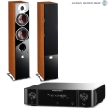 Стерео комплект Dali Zensor 5 Light Walnut+Marantz MCR511 Black