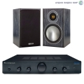 Стерео комплект Cambridge Audio Topaz AM5 Black+Monitor Audio Bronze1 Black