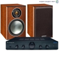 Стерео комплект Cambridge Audio Topaz AM5 Black+Monitor Audio Bronze1 Rosemah