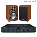 Стерео комплект Cambridge Audio Topaz AM5 Black+Monitor Audio Bronze1 Walnut