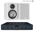 Стерео комплект Cambridge Audio Topaz AM5 Black+Monitor Audio Bronze1 White