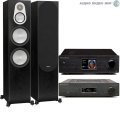Стерео комплект Cambridge Audio AZUR 851A Black+Cambridge Audio 851N Network Black+Monitor Audio Silver 300 Black Oak