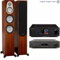Стерео комплект Cambridge Audio AZUR 851A Black+Cambridge Audio 851N Network Black+Monitor Audio Silver 300 Walnut