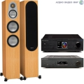Стерео комплект Cambridge Audio AZUR 851A Black+Cambridge Audio 851N Network Black+Monitor Audio Silver 300 Natural Oak