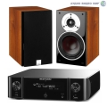 Стерео комплект Dali Zensor 1 Light Walnut+Marantz MCR511 Melody Stream Black