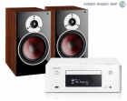 Стерео комплект Denon CEOL RCD-N9 White+DALI Zensor 3 Light Walnut