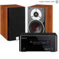 Стерео комплект Denon CEOL Piccolo DRA-N4 Black+DALI Zensor 1 Light Walnut