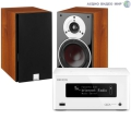 Стерео комплект Denon CEOL Piccolo DRA-N4 White+DALI Zensor 1 Light Walnut