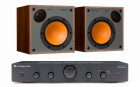 Стерео комплект Cambridge Audio Topaz AM5 Black+Monitor Audio Monitor 50 Walnut