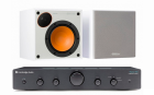 Стерео комплект Cambridge Audio Topaz AM5 Black+Monitor Audio Monitor 50 White