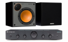 Стерео комплект Cambridge Audio Topaz AM5 Black+Monitor Audio Monitor 50 Black