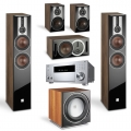 Onkyo TX-RZ830 Silver + комплект 5.1 Dali Opticon 6/1/Vokal/Sub E-12 F Light Walnut