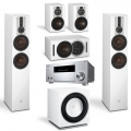 Onkyo TX-RZ830 Silver + комплект 5.1 Dali Opticon 6/1/Vokal/Sub E-12 F White