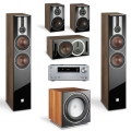 Onkyo TX-NR686 Silver + комплект 5.1 Dali Opticon 6/1/Vokal/Sub E-12 F Light Walnut