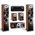 Denon AVR-X2500H Black + комплект 5.0 Dali Zensor 7/1/Vokal Light Walnut