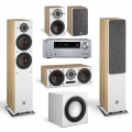 Onkyo TX-NR686 Silver + комплект 5.1 Dali Oberon 7/1/Vokal Light Oak/Sub E-9 F White