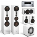 Onkyo TX-RZ830 Silver + комплект 5.1 Dali Opticon 8/2/Vokal/Sub K-14 F White