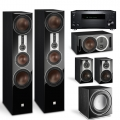 Onkyo TX-RZ830 Black + комплект 5.1 Dali Opticon 8/1/Vokal/Sub E-12 F Black