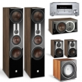 Onkyo TX-RZ830 Silver + комплект 5.1 Dali Opticon 8/1/Vokal/Sub E-12 F Light Walnut