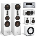 Onkyo TX-RZ830 Silver + комплект 5.1 Dali Opticon 8/1/Vokal/Sub E-12 F White