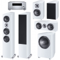 Onkyo TX-RZ830 Silver + комплект 5.1 Heco Celan Revolution 7/3/Center 4/Sub 32 A White Satin