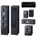Onkyo TX-NR575E Black + комплект 5.1 Magnat Monitor Supreme 2002/102/Center 252/Sub 202A Black