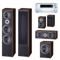 Onkyo TX-NR575E Silver + комплект 5.1 Magnat Monitor Supreme 2002/102/Center 252/Sub 202A Mocca
