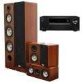 Onkyo TX-SR373 Black + комплект 5.0 Taga Harmony TAV-406 v.2 Set Walnut