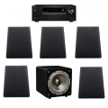Onkyo TX-SR373 Black + комплект 5.1 MT-Power NS-5SL Set 5.0 + Taga Harmony inMOVE 8 Black