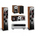 Yamaha RX-V385 Titanium + комплект 5.0 Dali Zensor 5/1/Vokal Light Walnut