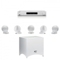 Onkyo TX-L50 White + комплект 5.1 Cabasse Alcyone 2 5.1 system Glossy White