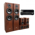 Yamaha RX-V385 Black + комплект 5.0 KODA AV-707 mkII Dark Walnut