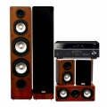 Yamaha RX-V385 Titanium + комплект 5.0 Taga Harmony TAV-406 v.2 Set Walnut