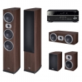 Yamaha RX-V485 Black + комплект 5.0 Heco Victa Prime 702/202/Center 102 Espresso