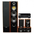 Yamaha RX-V485 Black + комплект 5.0 Taga Harmony TAV-606 v.3 Set Walnut