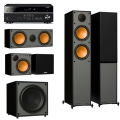 Yamaha RX-V485 Black + комплект 5.1 Monitor Audio Monitor 200/50/C150/MRW-10 Black