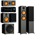 Onkyo TX-NR474 Black + комплект 5.1 Monitor Audio Monitor 200/100/C150/MRW-10 Black