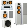 Onkyo TX-NR474 Silver + комплект 5.1 Monitor Audio Monitor 200/100/C150/MRW-10 White