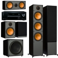 Onkyo TX-NR474 Black + комплект 5.1 Monitor Audio Monitor 300/100/C150/MRW-10 Black