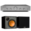 Стерео комплект Monitor Audio Monitor 50 Black+Cambridge Audio AXA25 Grey