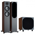 Комплект акустики Monitor Audio Bronze 200 + Bronze W10 6G Walnut